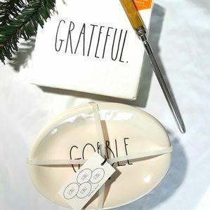 Rae Dunn Gobble Plates Grateful Napkins Lot NWT